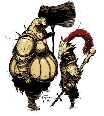 ornstein_and_smough_sketch_by_semsei-d4j51yt